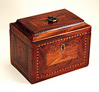 Federal Tea Caddy in Walnut