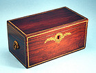 Antique American Faux Rosewood Grained Tea Caddy