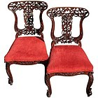 Pair of Anglo Indian Side Chairs