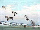Ducks in Flight by Benson Bond Moore (Am., born 1882)