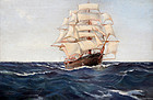 Sailing Ship attributed to Charles Dixon