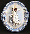 Exceptional Antique Porcelain Wall Plaque