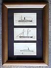 American Ships by Edward F.D. Pritchard (Eng. b. 1809)