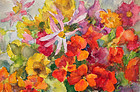Floral Watercolor by Marguerite Joliot (born 1887)