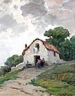 """""""Il Casolare"""" by Leon Giuseppe Buono (Italian, b. 1888)"""