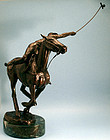 Bronze of a Polo Player by Bunny Connell