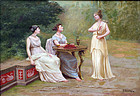 """Afternoon in the Garden"" by R. Bonnechose"