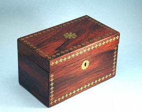 Antique French Rosewood Tea Caddy