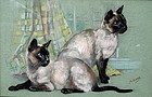 Siamese Cats by Mabel Gear (British, b.1900)