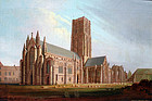 View of  Howden Minster by John Widdas (English, b1802)