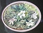 "Small Watercolor of Flowers dated ""1866"""