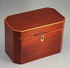English Lacewood Tea Caddy