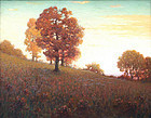 """Autumn Trees on a Hillside"" by Clark S. Marshall (Am.)"