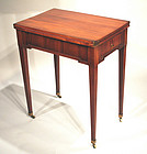 Neoclassical Game Table in Cedar