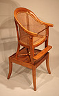 Antique English Child's High Chair