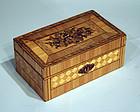 Antique French Straw Work Souvenir Box