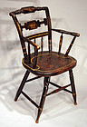"Antique American Painted ""Fancy Chair"""