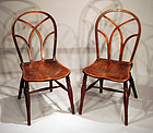 "Pair of English ""Gothik"" Windsor Side Chairs"