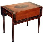 Exceptional Adam Painted Satinwood Pembroke Table