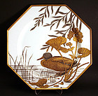 Minton Aesthetic Movement Ornithological Cabinet Plates