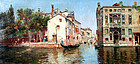 Venetian Canal by Antonio Maria de Reyna Manescau