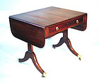 Nice Small Scale English Regency Sofa Table