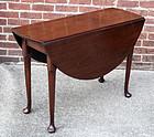 Fine 18th Century Oval Drop Leaf Table