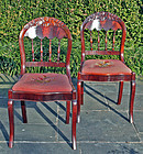 Rare Pair of Alexandria, Virginia Sidechairs