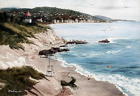 Laguna Beach by Charles Ross Kinghan (American, b.1895)
