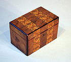 """Antique English """"Whittlewood"""" Tea Caddy"""