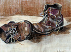 A Study of a Pair of Work Boots