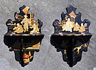 Pair of Small Japanese Wall Brackets