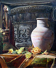 Still Life Painting by  E. Ladell (British, 19th C)
