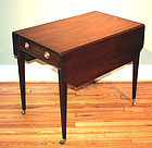 Elegant Georgian Mahogany Cut-corner Pembroke Table