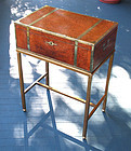 Exceptional Antique Burled Wood Box on Stand