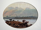 19th Century British Watercolor Landscape