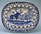 Rare Staffordshire Historical America Small Platter