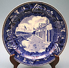 Pair Wedgewood Commerative Plates of Fort Ticonderoga