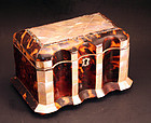Exceptional Regency Tortoiseshell Tea Caddy