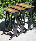 Antique Chinese Export Black Lacquer Nest of Tables