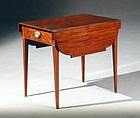 Massachusetts Federal Mahogany Pembroke Table