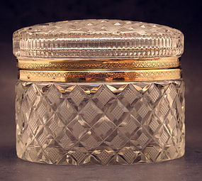 Antique French Crystal Box