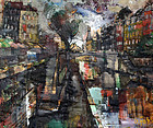 Paris Scene by Oliver Foss (1920-2002)