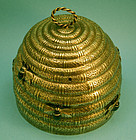 Brass Beehive form Box