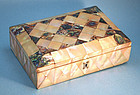 Antique Regency Mother of Pearl Jewelry Box