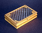 French Antique Book Form Crystal and Ormolu Cigarette Case