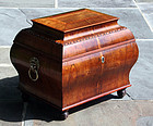 English Regency Bombe Storage Box in Rosewood, Early 19th Century