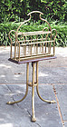 Antique English Brass Magazine or Newspaper Rack