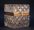 Charles X Style Cut Crystal Dresser Box