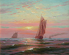 Marine Painting by Charles Watson (American, 1857-1923)